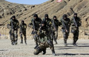 An armed unit from Tibet police border security force attends a drill at a military base in Shigatse, Tibet Autonomous Region, China, 24 October 2015 (Photo: Reuters/Stringer).