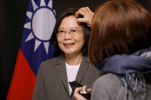 Taiwan President Tsai Ing-wen has make up applied during an interview with Reuters at the Presidential Office in Taipei, Taiwan 27 April 2017. (Photo: Reuters/Tyrone Siu).