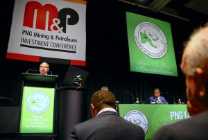 Peter O'Neill, the Prime Minister of Papua New Guinea, speaks during the opening of the PNG Mining and Petroleum Investment conference in Sydney, Australia, 5 December 2016 (Photo: Reuters/David Gray).