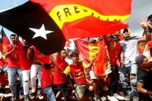 Supporters of the FRETILIN political party take part in a rally ahead of parliamentary elections in Tasi Tolu, Dili, East Timor, 9 May 2018 (Photo: Reuters/Lirio Da Fonseca).