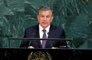 Uzbekistan President Shavkat Mirziyoyev addresses the 72nd United Nations General Assembly at UN Headquarters in New York, United States, 19 September 2017 (Photo: Reuters/Eduardo Munoz/File Photo).