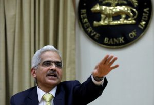 Shaktikanta Das, the new Reserve Bank of India (RBI) Governor, gestures as he attends a news conference in Mumbai, India, 12 December 2018 (Photo: Reuters/Danish Siddiqui).