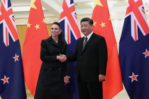 Chinese President Xi Jinping and New Zealand Prime Minister Jacinda Ardern shake hands before the meeting at the Great Hall of the People in Beijing, China 1 April 2019. (Photo: Reuters, Kenzaburo Fukuhara)