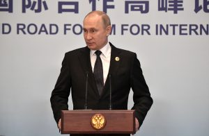 Russian President Vladimir Putin speaks during a news conference following the second Belt and Road Forum in Beijing, 27 China April 2019 (Photo: Reuters/Aleksey).