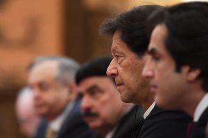 Pakistan's Prime Minister Imran Khan attends a meeting, 28 April 2019 (Photo: Reuters/Madoka Ikegami).