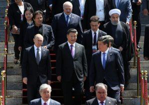 Leaders of the Shanghai Cooperation Organisation (SCO) countries and observer members attend the Shanghai Cooperation Organisation (SCO) summit in Bishkek, Kyrgyzstan, 14 June 2019 (Photo: Sputnik/Konstantin Zavrazhin/Pool via Reuters).