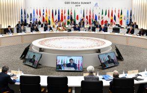 Japan's Prime Minister Shinzo Abe speaks during the G20 summit in Osaka, Japan, June 29, 2019. (Photo: Reuters/ Kazuhiro Nogi/Pool)
