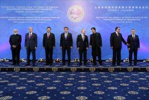 Leaders of the SCO countries pose for a family photo during the Shanghai Cooperation Organization (SCO) summit in Bishkek, Kyrgyzstan 14 June, 2019 (Photo: Reuters/Zavrazhin).