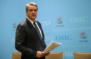 World Trade Organization (WTO) Director-General Roberto Azevedo arrives for a news conference after a two-day General Council meeting at the WTO headquarters in Geneva, Switzerland, 10 December, 2019 (Photo: Reuters/Balibouse).