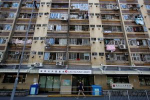 Lung Hing House (Dragon Vigour House), one of 15 older public housing blocks in Hong Kong's Wong Tai Sin neighborhood that are named after dragons is pictured, 21 September 2019 (Reuters/James Pomfret).