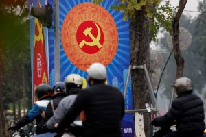 A poster promoting Vietnam's communist party is seen on a street in Hanoi, Vietnam, 23 January 2019 (Photo: Reuters/Kham).