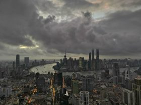 A view of local landmarks and skyscrapers in Shanghai, China, 18 April 2020 (Photo: Reuters/Xu Feng).
