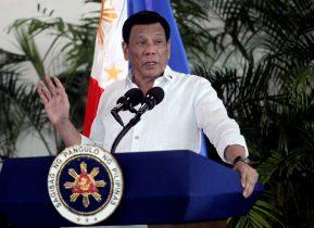 President Rodrigo Duterte speaks at Davao International airport in Davao City in southern Philippines, 8 September 2018 (Photo: Reuters/Lean Daval Jr).