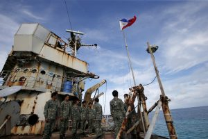 Members of the Philippine Marines on BRP Sierra Madre, a dilapidated Philippine Navy ship (Photo: Reuters/Erik De Castro).