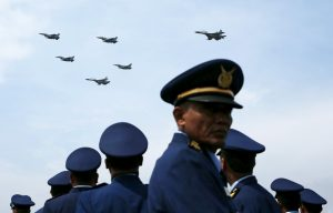 The Indonesian Air Force's aerobatic team performs during celebrations marking the 70th anniversary of the Air Force at Halim Perdanakusuma air base in Jakarta, Indonesia, 9 April 2016 (Photo: Reuters/Beawiharta).