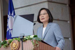 Taiwan President Tsai Ing-wen delivers her inaugural address at the Taipei Guest House in Taipei, Taiwan, 20 May 2020 (Photo: Reuters/Wang Yu Ching).